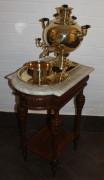 Стол старинный, столик под самовар, мрамор №1717