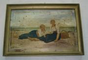 Картина «Девушки на пляже», деколь №1655