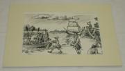 Картина «Солдаты. Корабль», графика пером №1657