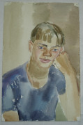Картина «Мальчик» акварель №1660