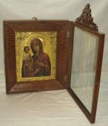 Икона в киоте «Троеручица», сусальное золото №1775