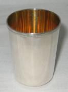 Стопка серебряная, 875 проба, золочение №1788