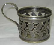 Подстаканник старинный, серебрение, «Br. Buch» Варшава 19 век №1856