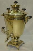 Самовар старинный «рюмка», объем 1,8 литров, с медалью, «Григорий Романовъ» №553