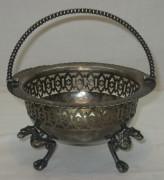 Конфетница, вазочка старинная, серебрение, Европа 19-20 век №1870