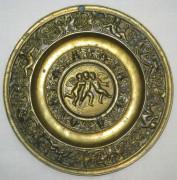 Тарелка бронзовая «Ангелы Путти», панно настенное, 19 век №1832