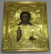 Икона с окладом «Господь Вседержитель», золочение, Россия 19 век №1939
