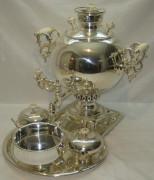 Самовар «шар» на 5 литров, серебрение, Б.Г. Тейле №344