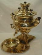 """Самовар """"ваза"""" гранная, с набором, 7 литров, томпак, Воронцов 19 век №486"""