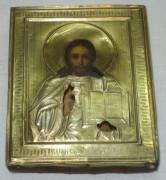 Икона «Господь Вседержитель» с окладом из серебра 84 пробы №1912