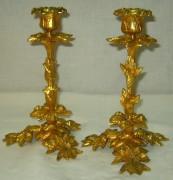 Подсвечники парные бронза, позолота Россия 19 век №597