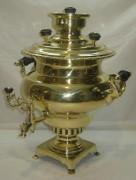 Самовар старинный «репка» на 5 литров, «И.Ф. Капырзина» №935