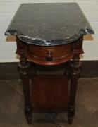 Стол старинный, столик самоварный, мраморная столешница №4359