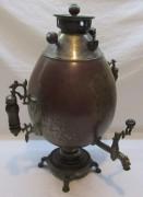 Редкий коллекционный самовар «пасхальное яйцо», на 5 л, Россия 19 век №1040