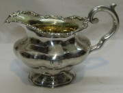 Сливочник старинный, серебро 84 пр, позолота, Россия 19-20 век №5398