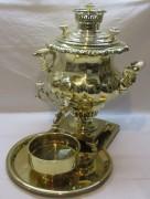 Самовар старинный коллекционный «ваза», в комплекте, «Шемарин» 19 век №1157