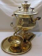 Самовар старинный угольный «кувшин, ваза», томпак, «Николай Маликов» 19 век №1025